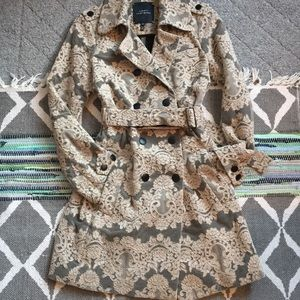 🎀Roberto Rodriguez Lace Trench Coat